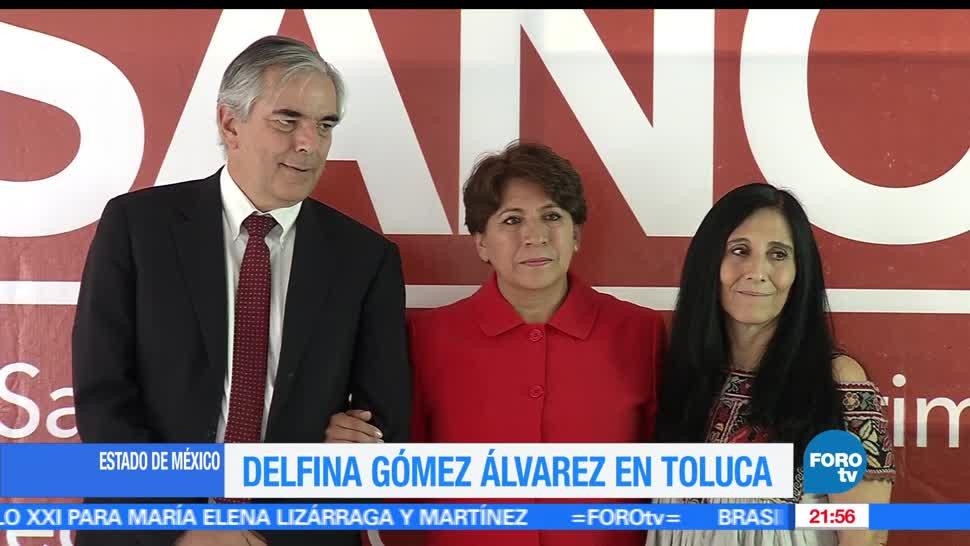 noticias, forotv, Delfina Gomez, propuesta de salud, Toluca, morena