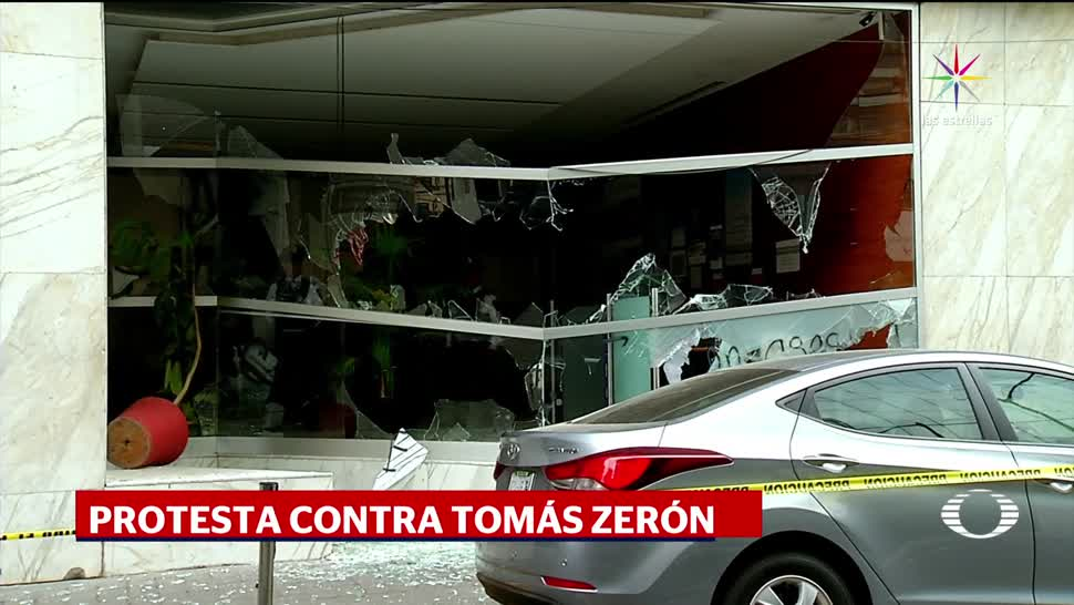 noticias, televisa news, Encapuchados, vandalizan, edificio de la Segob, Polanco