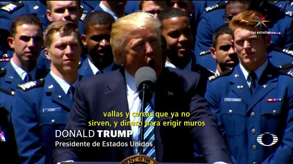 noticias, televisa news, Trump, dinero, muro, muro en la frontera