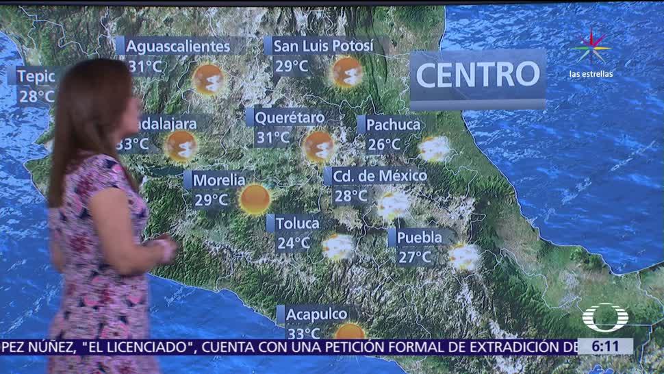 Pronostican, tormentas, miércoles, El clima