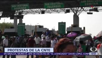 CNTE movlizaciones, CNTE bloqueos, CNTE
