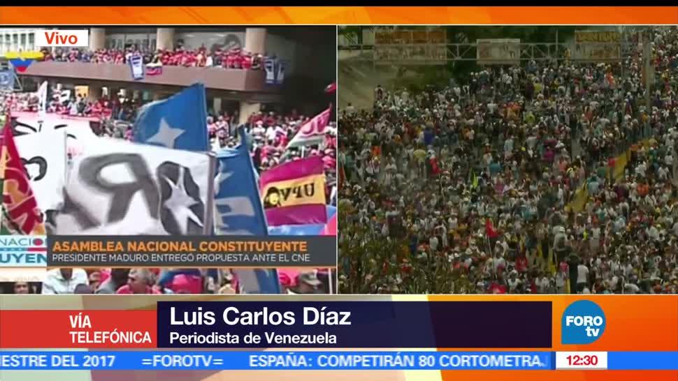 Luis Carlos Díaz, movilizaciones, presidente de Venezuela, Constitución