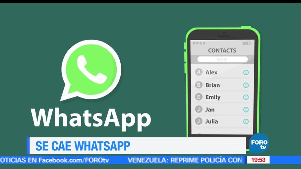 noticias, televisa news, cae, WhatsApp, app, falla