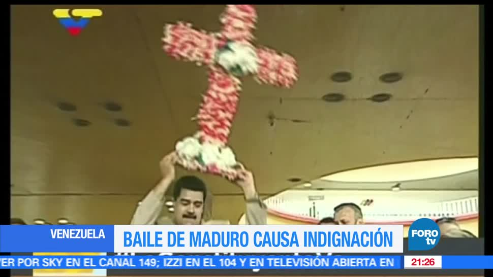 noticias, Hora 21, Maduro, baila, cruz de flores, venezuela