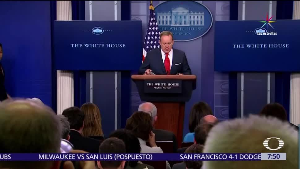 vocero, Casa Blanca, Sean Spicer, construcción de vallas, muro fronterizo