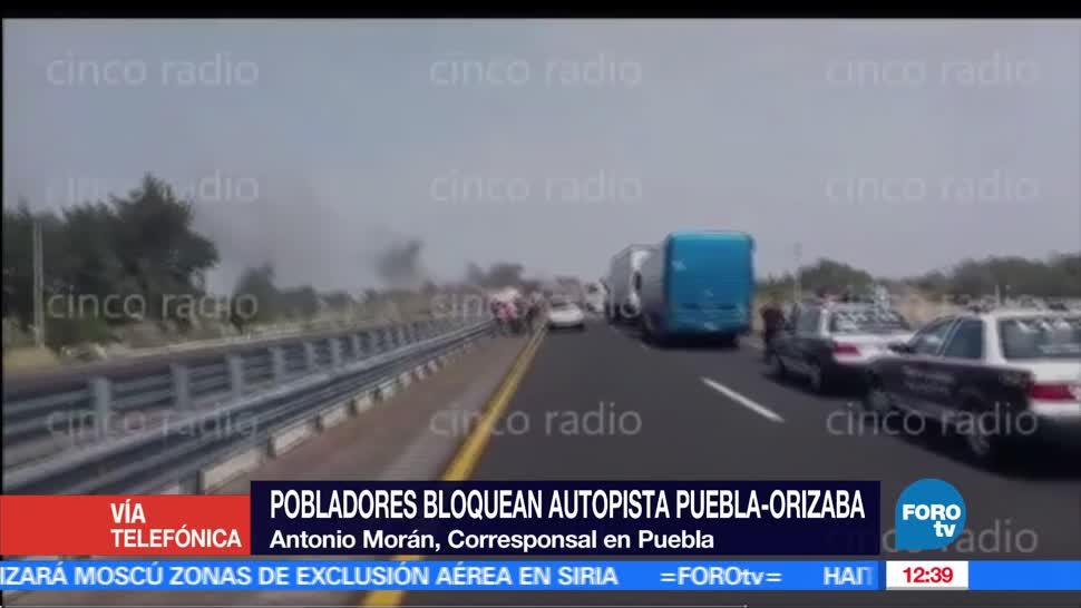 noticias, forotv, Manifestantes, bloqueo, autopista Puebla-Orizaba, enfrentamiento