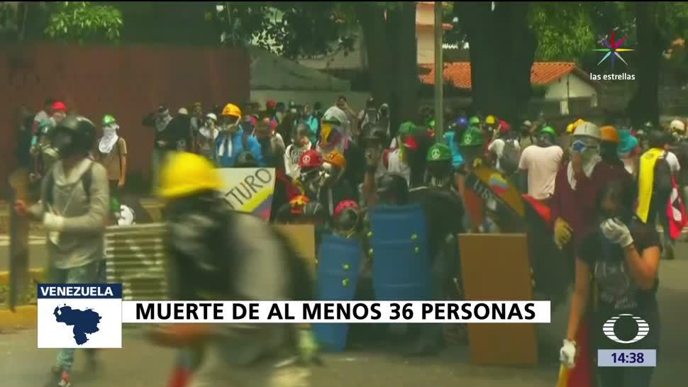 noticias, televisa news, 36 muertos, Venezuela, protestas, Nicolas Maduro