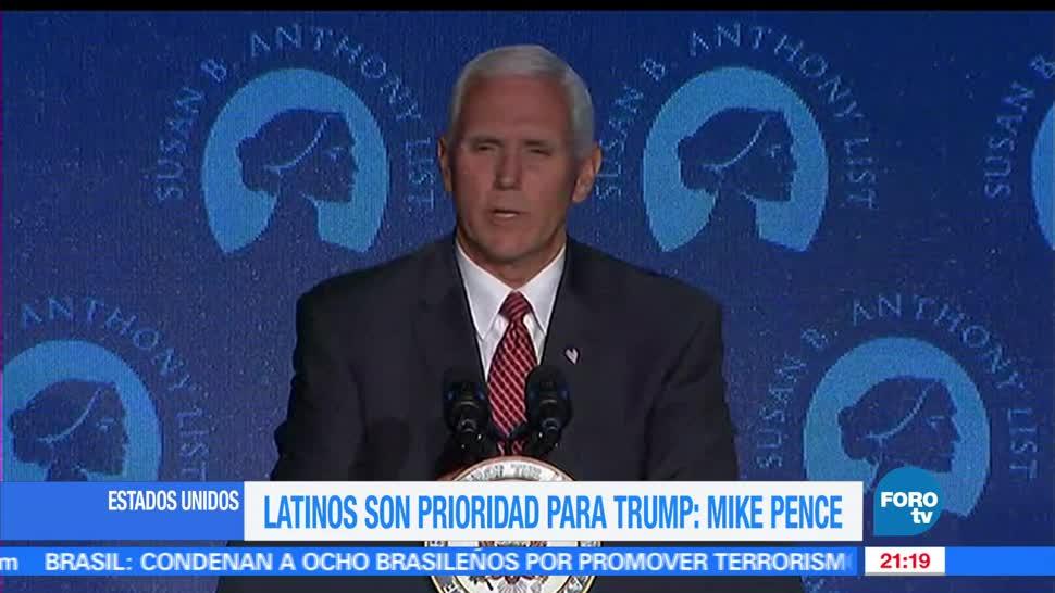 Mike Pence, Estados Unidos, Comunidad latina, Latinos, Prioridad, Donald Trump