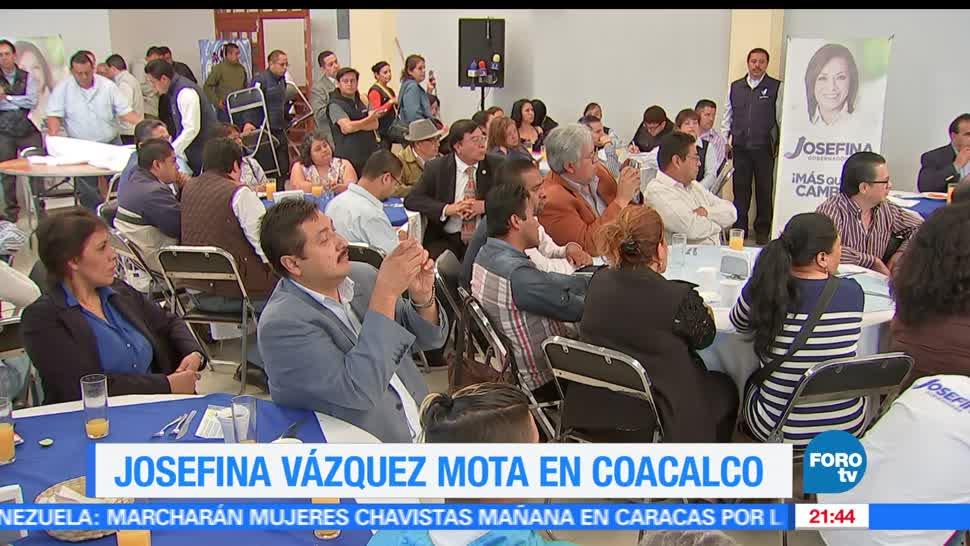noticias, forotv, Vázquez Mota, Coacalco, elecciones en el estado de mexico, pan