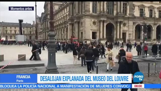 explanada, Louvre, Emmanuel Macron, victoria electoral, evacuación temporal