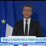 Mensaje de Macron, triunfo electoral, presidente electo de Francia, Emmanuel Macron
