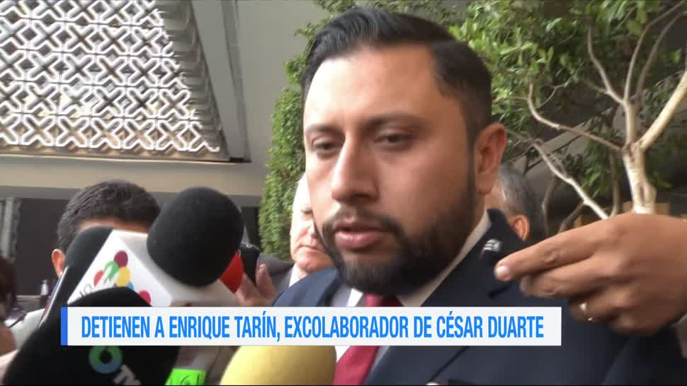 Detienen a diputado suplente, Antonio Enrique Tarín, excolaborador, César Duarte