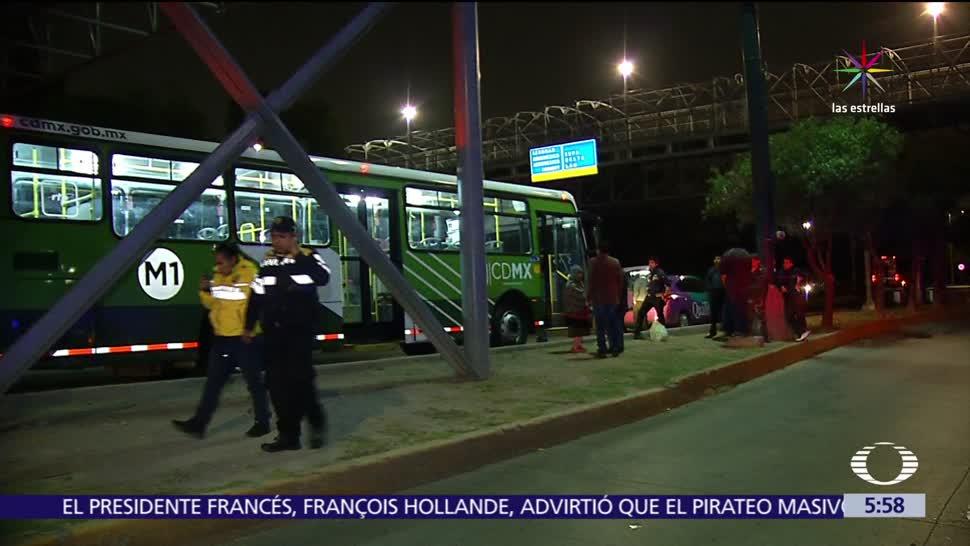 conductor, camión del transporte público, bala, asalto, Río Churubusco