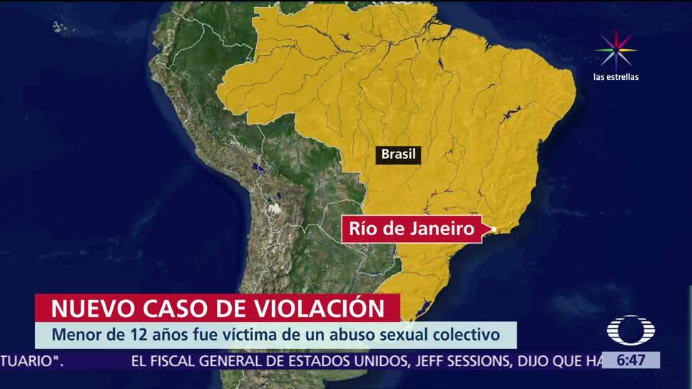 niña, violación, Río de Janeiro, crimen