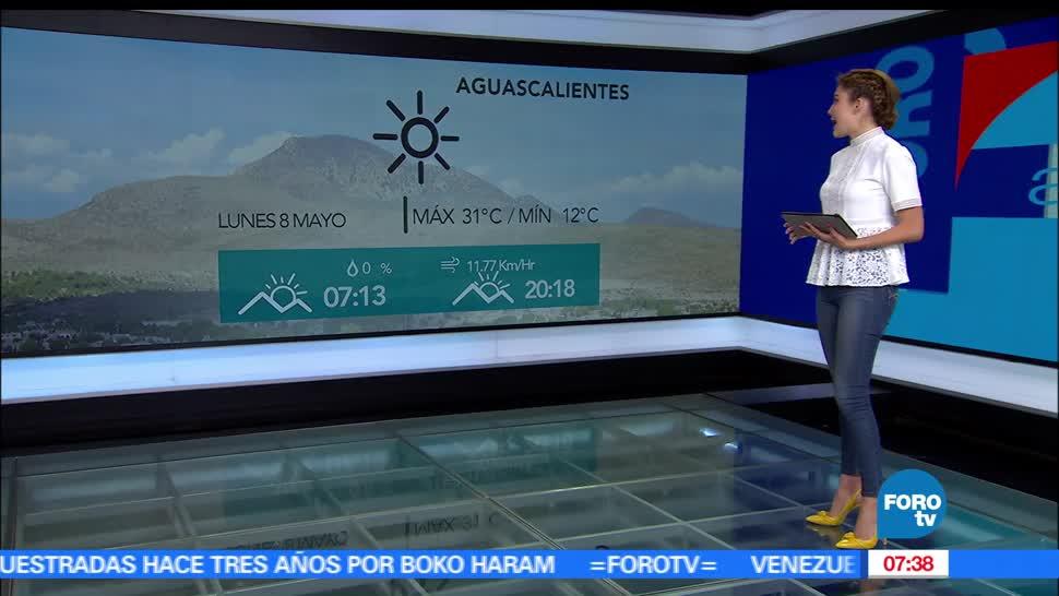 zona de inestabilidad, Pacífico, Ciudad de México, temperatura máxima