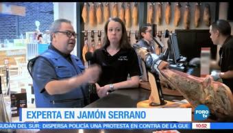 Enrique Muñoz, reportaje, experta, jamón