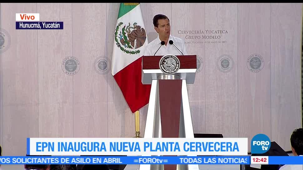 Nueva planta cervecera, rostro industrial, presidente, Enrique Peña Nieto