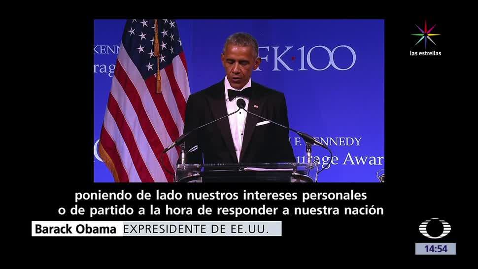 Obama, recibe premio, Premio al Valor Civil John F. Kennedy 2017, expresidente
