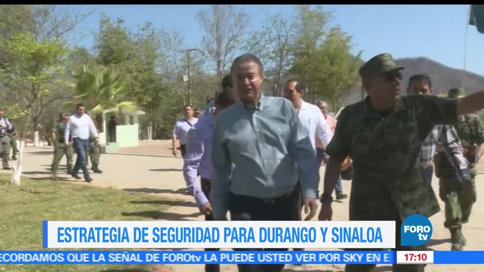Estrategia, seguridad, durango, Sinaloa