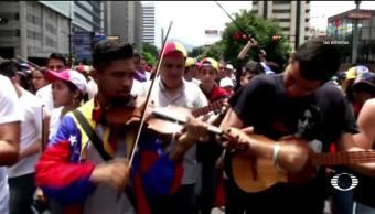 noticias, televisa news, Músicos y artistas, marcha, Maduro, venezuela