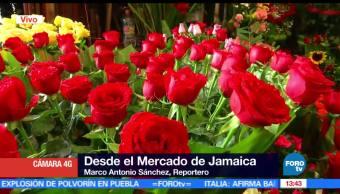 costo de las flores, 45 pesos, Mercado de Jamaica, 10 de mayo