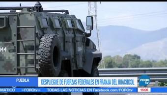fuerzas federales, Puebla, despliegue, robo de combustible