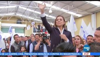 Josefina Vázquez Mota, visita, Toluca, Eleccion, Estado de México, Candidata gubernatura del PAN