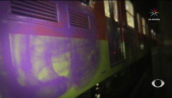 Caen, Detienen, grafiteros, trenes, Metro, CDMX