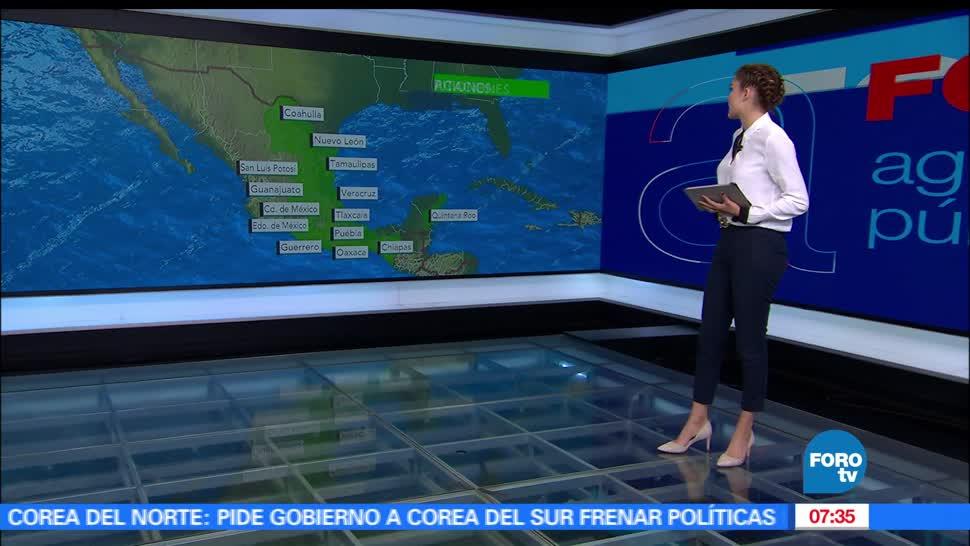frente frío, República mexicana, depresión tropical Adrián, Oaxaca