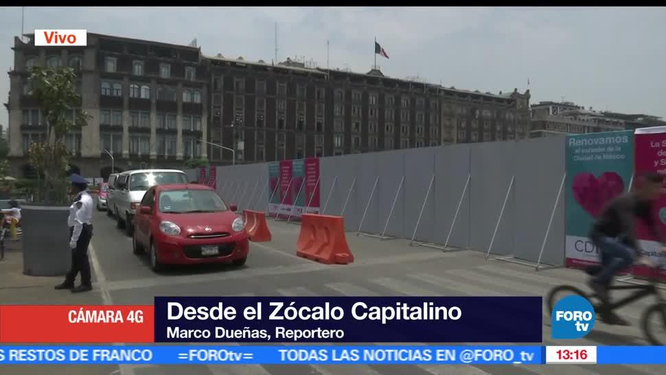 plancha del Zócalo, Ciudad de México, concreto hidráulico, circulación vehicular