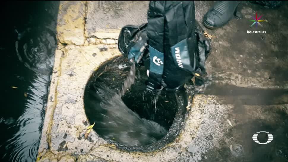 Intentan, coladeras, inundaciones, CDMX, lluvias, Sistema de Aguas de la Ciudad de México