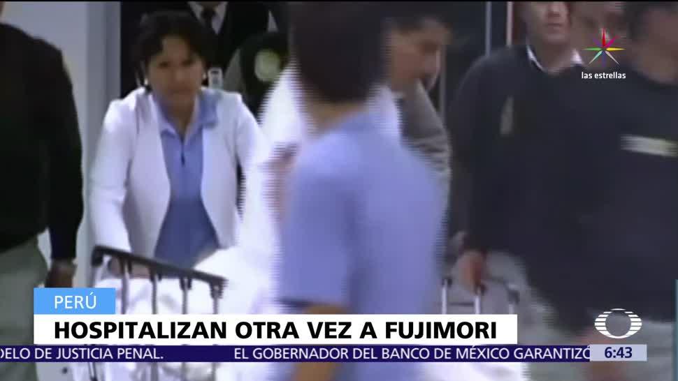 Hospitalizan, expresidente, Perú, Alberto Fujimori
