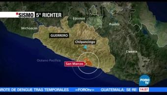noticias, forotv, 4 municipios, Guerrero, sismo, 5 grados