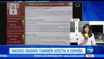 noticias, forotv, ataque cibernetico, Espana, vuele a la normalidad, miles de computadoras