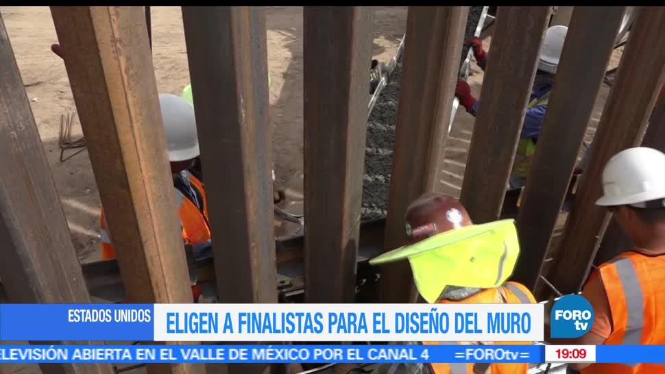 Eligen, finalistas, diseñar, muro de Trump, Frontera México, Estados Unidos