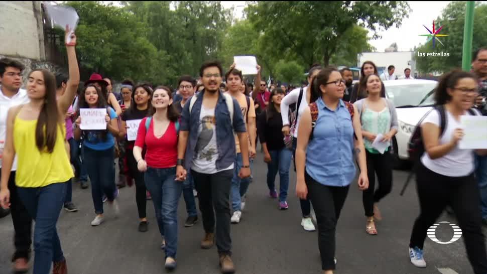 Universitarios, marchan, seguridad, CU, Ciudad Universitaria, Inseguridad