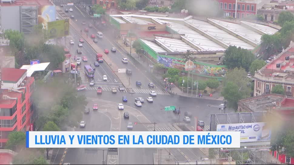 lluvia, vientos fuertes, Ciudad de México, granizo, clima, caída de árboles