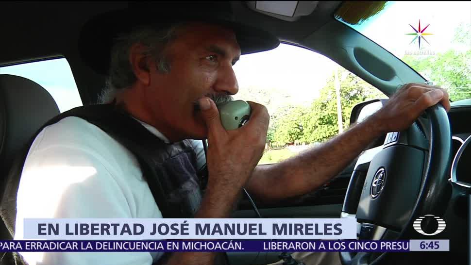 José Manuel Mireles, exlíder, autodefensas, Michoacán, libertad