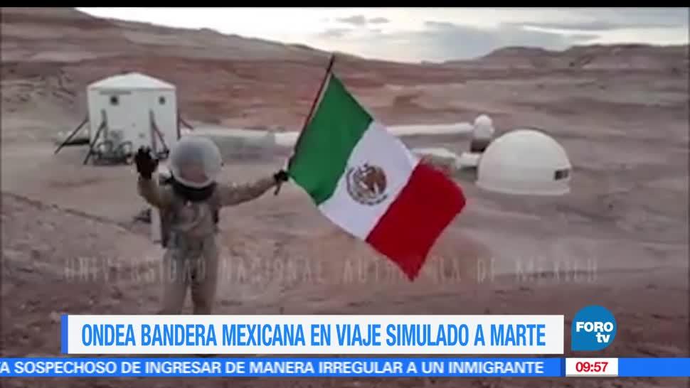 Yair Piña López, estudiante, UNAM, fotografías, bandera mexicana, Marte