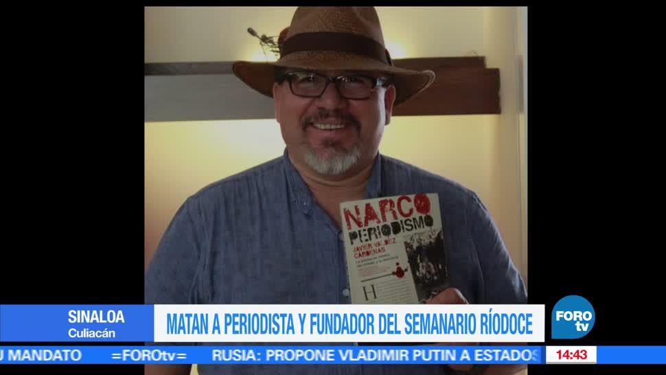 Asesinan, periodista, Javier Valdez, Sinaloa