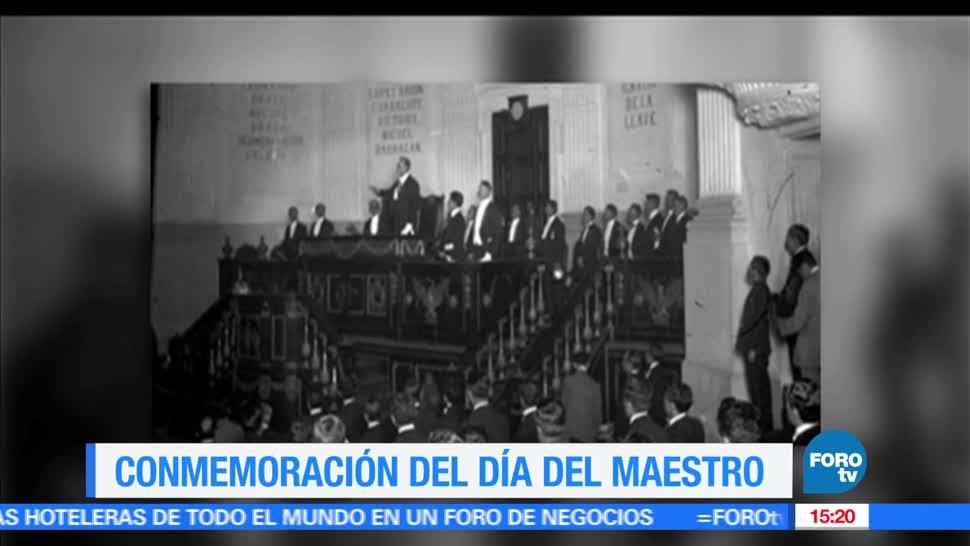 Conmemoración, Día del Maestro, México, celebra