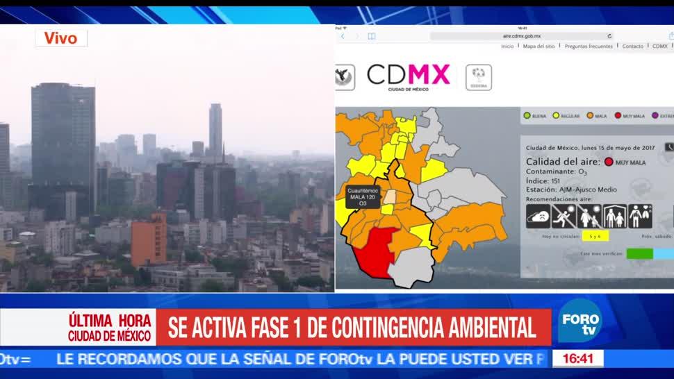 Activan Fase 1, contingencia ambiental, Valle de México, Zona Metropolitana