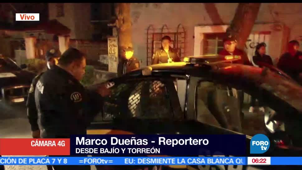 Policías capitalinos, operativo, sujetos, robo de autopartes