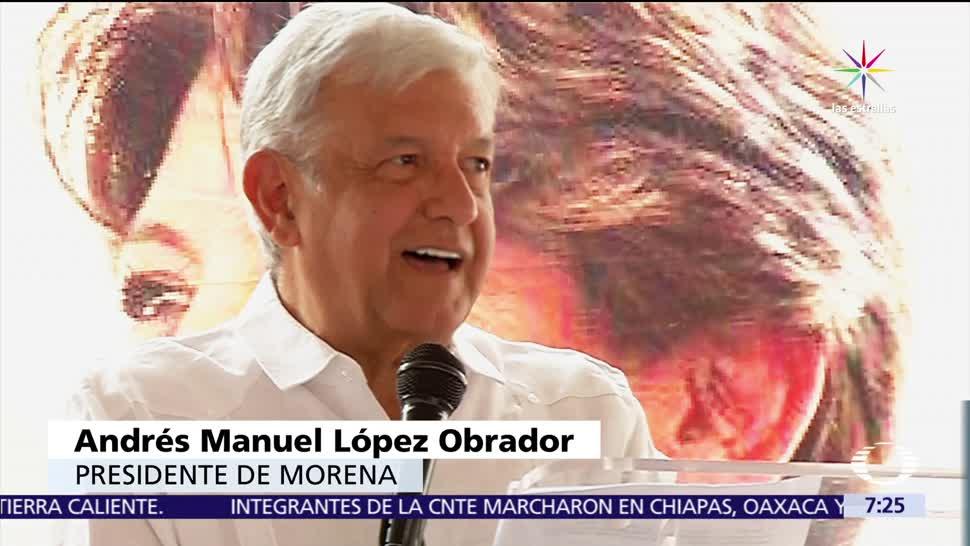 Andrés Manuel López Obrador, Partido Morena, adhesión pública, líderes del SNTE