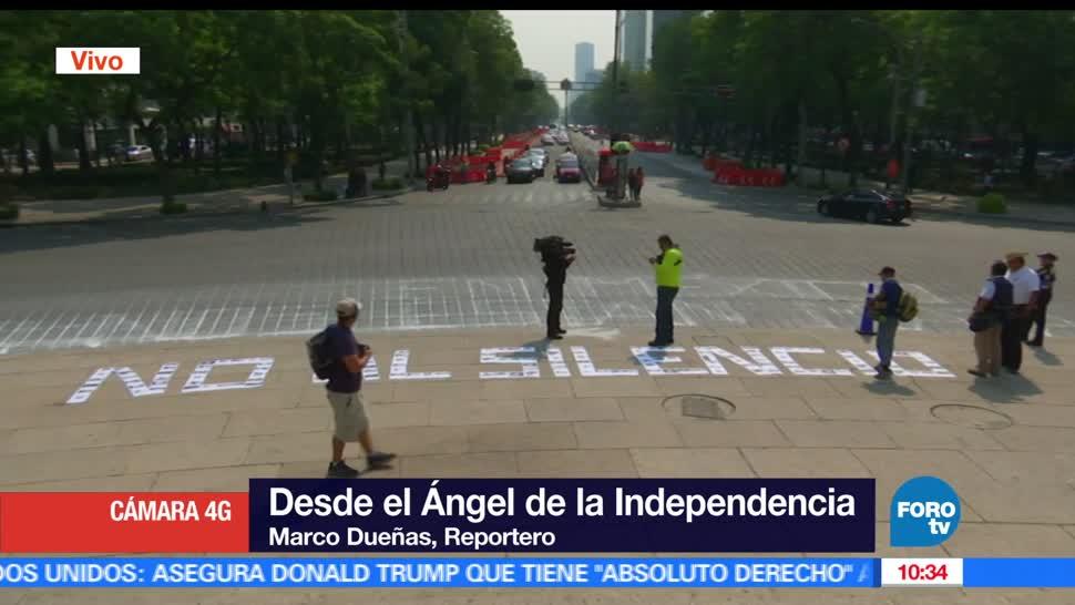 Ángel de la Independencia, comunicadores, protestar, impunidad, periodistas en México