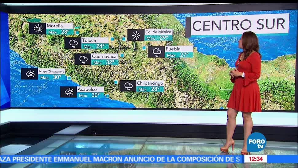 Ciudad de México, grados, temperatura máxima, lluvia