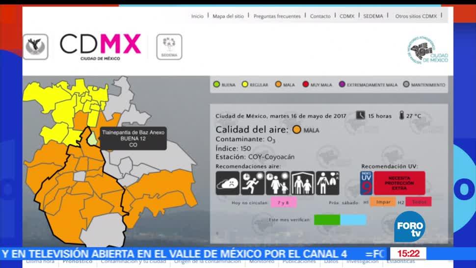 Comisión Ambiental de la Megalópolis, mantiene, contingencia ambiental, Valle de México