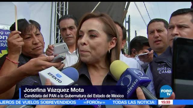 Josefina Vázquez Mota, candidata del PAN, desmintió, posible declinación