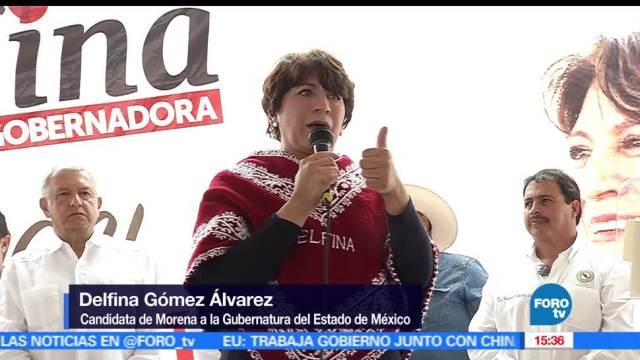 candidata de Morena, Delfina Gómez, trabajar, maestros