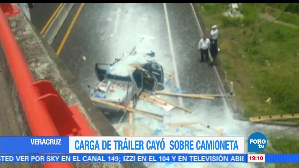 Cae carga, tráiler, vehículo, Veracruz